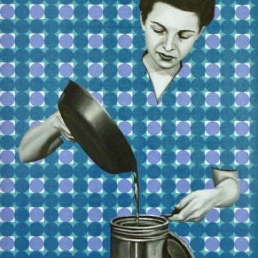 85. Ruth pouring Oil, 60x40cm